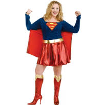 Adult Classic Supergirl Costume Plus Size - Superman