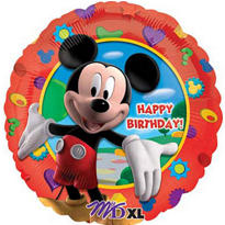 Foil Mickey Mouse Happy Birthday Balloon 18in