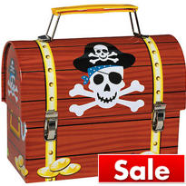 Pirate's Treasure Tin Box