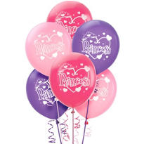 Latex Princess Birthday Balloons 12in 6ct