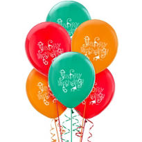 Latex Jungle Animals Birthday Balloons 12in 6ct