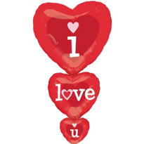 Foil Stacker I Love You Valentines Day Balloon 36in