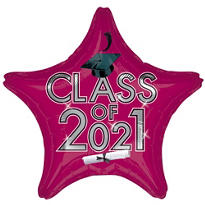 Burgundy Class of 2015 Star Graduation Balloon