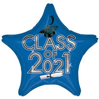 Star Class of 2015 Royal Blue Graduation Balloon