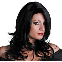Sultry Midnight Black Premium Wig
