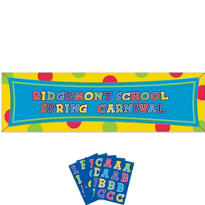 Giant Personalized Banners 4ct
