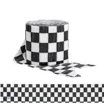 Black and White Checkered Streamer