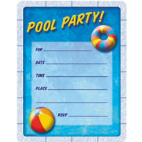 Pool Party Value Pack Invitations 50ct