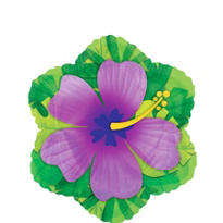 Foil Purple Hibiscus Balloon 18in