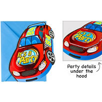 Race Car Jumbo Invitations 8ct