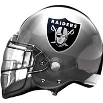 Oakland Raiders Helmet Foil Balloon 26in