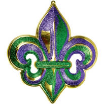 3D Mardi Gras Fleur De Lys Decoration 26in