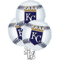 Kansas City Royals Balloons 18in 3ct