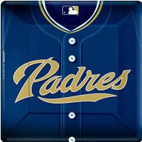 San Diego Padres Dinner Plates 18ct