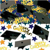 3D Graduation Cap Metallic Confetti 2/3oz