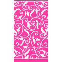 Bright Pink Ornamental Scroll Guest Towels 16ct