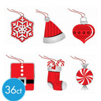 Holiday Fun Tape-On Gift Tags 36ct