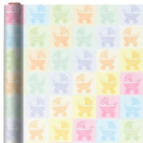 Jumbo Baby Buggy Gift Wrap