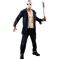 Adult Jason Costume Plus Size Deluxe - Friday the 13th