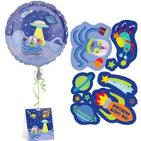 Outer Space Sticker Balloon 18in