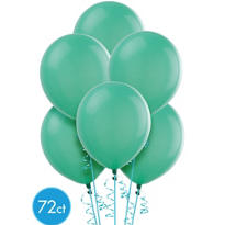 Aqua Latex Balloons 12in 72ct
