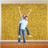 Gold Metallic Floral Sheeting