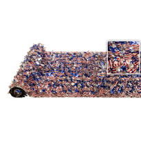 Stars & Stripes Metallic Floral Sheeting