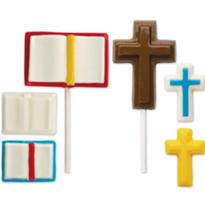 Cross and Bible Lollipop Mold