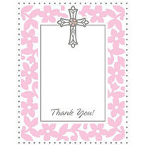 Pink Communion Value Pack Thank You Cards 20ct