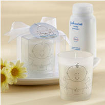 Heaven Scent Baby Powder Fresh Frosted Glass Votive Baby Shower Favor