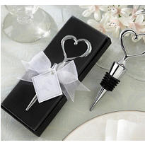 Chrome Heart Bottle Stopper in Showcase Display Box Wedding Favor