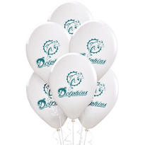 Miami Dolphins Latex Balloons 6ct