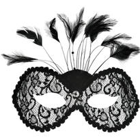 Black Lace Torino Masquerade Mask