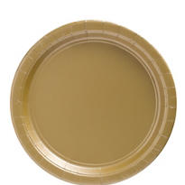 Gold Paper Lunch Plates 50ct