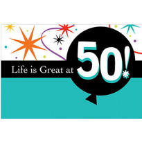 Life is Great 50 Invitations 8ct