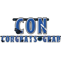 Royal Blue Graduation Letter Banner 10ft