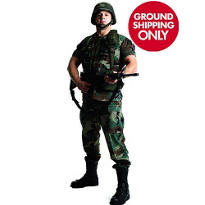 Army Soldier Life Size Cardboard Cutout 73in