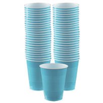 Caribbean Blue Plastic Cups 16oz 50ct