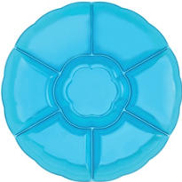 Blue Chip and Dip Tray 16in