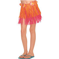 Child Warm Two-Tone Mini Hula Skirt