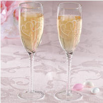 Formal Bride and Groom Wedding Toasting Glasses