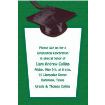 Custom Green Congrats Grad Invitations