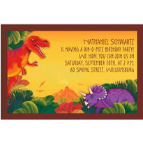 Prehistoric Dinosaurs Custom Invitation