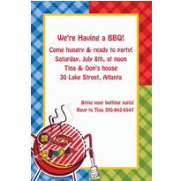 Backyard BBQ Custom Invitation