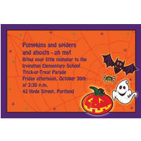 Custom Scared Silly Halloween Invitations