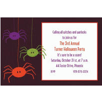 Spider Frenzy Custom Invitation