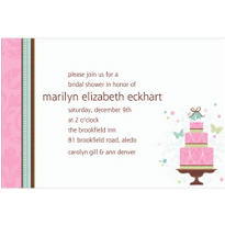 Blushing Bride Custom Bridal Shower Invitation