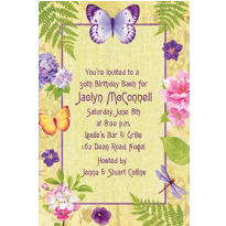 In the Garden Custom Invitation