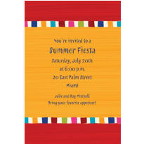 Sedona Red and Yellow Custom Invitation