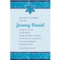 Shimmering Star Custom Invitation